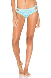 San Lorenzo Cut Out Bikini Bottom Turquoise