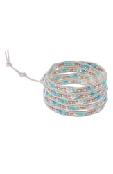 Nakamol Design Stone And Metal Wrap Bracelet Turquoise