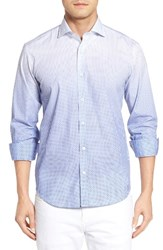 Bugatchi Men's Shaped Fit Ombre Print Sport Shirt