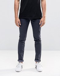 Solid Blue Black Skinny Fit Jeans With Stretch Dark Blue