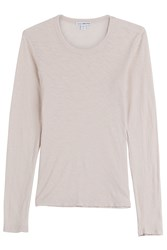 James Perse Long Sleeved Cotton Top Beige