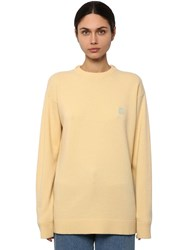 Loewe Anagram Embroidered Logo Knit Sweater Sand