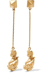 Valentino Gemini Gold Plated Earrings One Size