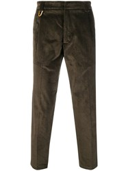 Low Brand Cropped Corduroy Trousers Green
