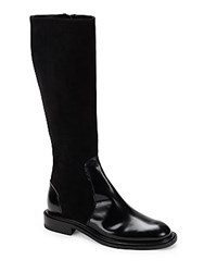 Jil Sander Stacked Heel Over The Knee Boots Black