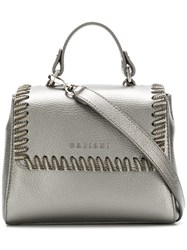 Orciani Chain Trim Crossbody Bag Grey