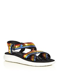 Marc Jacobs Comet Embellished Strappy Platform Sandals Rainbow Multi