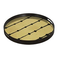 Notre Monde Brown Dots Glass Tray