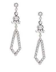 Gerard Yosca Marquis Drop Earrings Silver