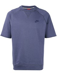 Nike Short Sleeve Sweatshirt Men Cotton Xl Blue