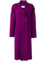 Ports 1961 Double Breasted Coat Pink Purple