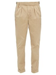 Polo Ralph Lauren Baggy Cotton Gabardine Trousers Beige
