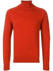 Ami Alexandre Mattiussi Turtleneck Sweater Orange