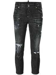 Dsquared2 Cool Girl Cropped Microstudded Jeans Black