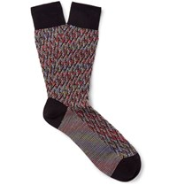 Missoni Mioni Patterned Wool Blend Ock Red