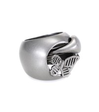 Valentino Snake Butterfly Chevalier Ring Silver
