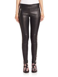 Alexander Mcqueen Striped Leather Leggings