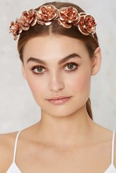 Nasty Gal Rose No Bounds Metallic Headband