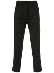 Egrey Straight Wool Trousers Black