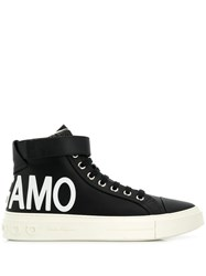 Salvatore Ferragamo Logo Hi Top Sneakers Black