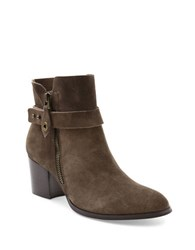 Kensie Seamore Suede Ankle Booties Taupe