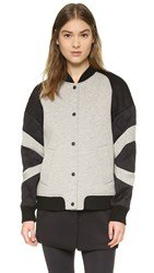 Rebecca Minkoff Rm Active Tess Jacket Charcoal Black