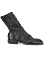 Guidi Side Zip Boots Black