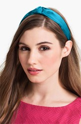 L. Erickson 'Narrow Knot' Turban Headband Blue Green Capri