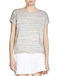 Maje Talc Heathered Tee Gris Chine