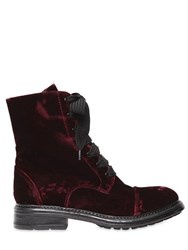 Fru.It 20Mm Lace Up Velvet Ankle Boots