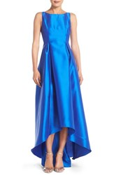 Women's Adrianna Papell Sleeveless High Low Ballgown Yves Blue
