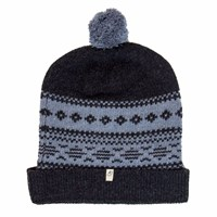 40 Colori Charcoal Light Blue Norwegian Wool And Cashmere Beanie Grey