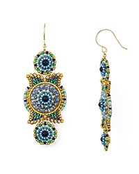 Miguel Ases Triple Circle Drop Earrings Multi