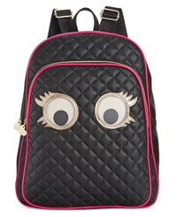 Betsey Johnson Googly Eyes Backpack Black