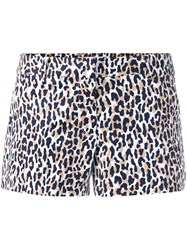 Michael Michael Kors Thora Animal Print Shorts White