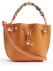 Sophia Webster Romy Mini Leather Bucket Bag Tan Multi