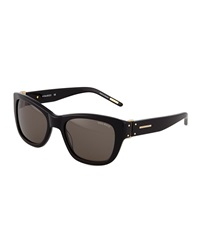 Nina Ricci Cat Eye Acetate Sunglasses Black