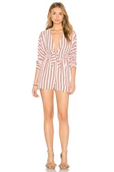 Lucca Couture Front Knot Playsuit White