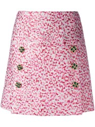 Dolce And Gabbana Jacquard A Line Skirt Pink Purple
