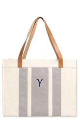 Cathy's Concepts Monogram Canvas Tote Grey
