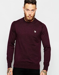 Paul Smith Jeans Jumper With Zebra Logo In Crew Neck Damson