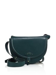 Maiyet Icon Leather Saddle Crossbody Bag Leaf