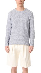 Levi's Made And Crafted Stripe Crew Neck Pullover Grey