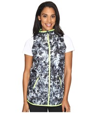 New Balance Windcheater Vest Printed White Tie Dye Floral Women's Vest Black