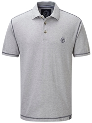 Tog 24 Holt Plain Polo Regular Fit Polo Shirt Light Grey Marl