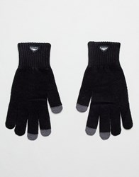 Penfield Nanga Etouch Knit Gloves In Black