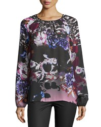 Clover Canyon Poetic Petals Long Sleeve Top Multi Colors