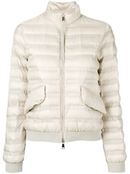 Moncler Padded Puffer Jacket Nude Neutrals