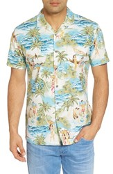 Kahala Olden Days Trim Fit Print Sport Shirt Kai