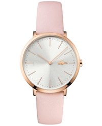 Lacoste Women's Moon Pink Leather Strap Watch 35Mm 2000948